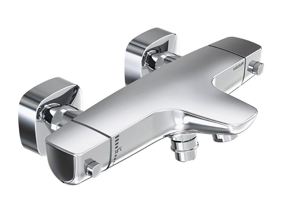 Mitigeur thermostatique Vigour White pour douche