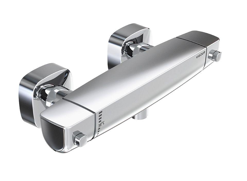 Mitigeur thermostatique Vigour White pour bain douche