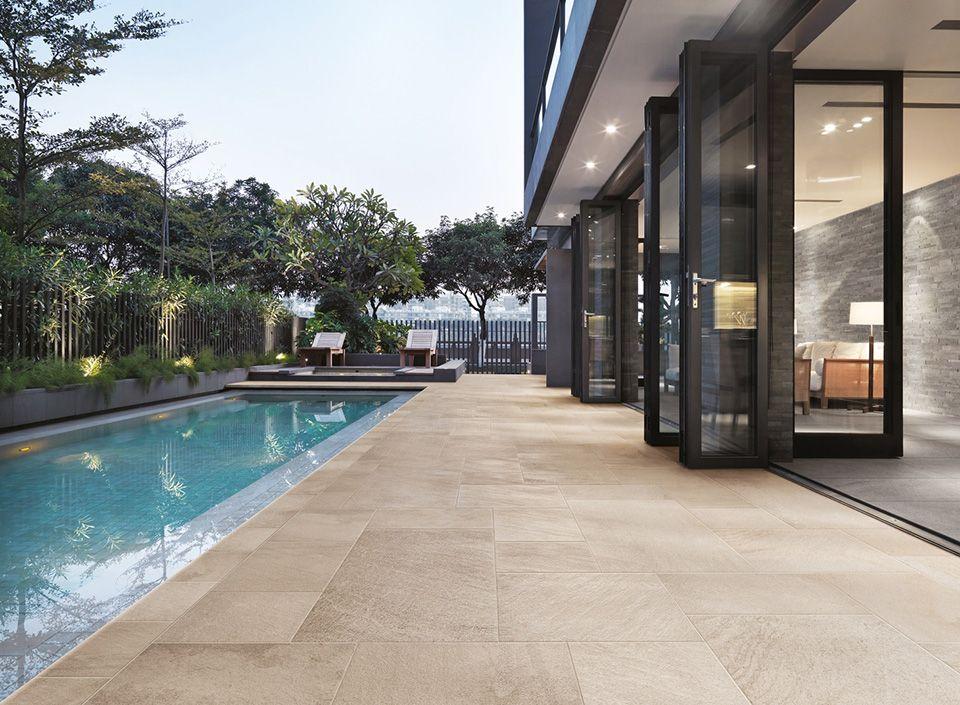 elegant fabulous sol extrieur carrelage neostone cerdisa with carrelage exterieur imitation teck. Black Bedroom Furniture Sets. Home Design Ideas