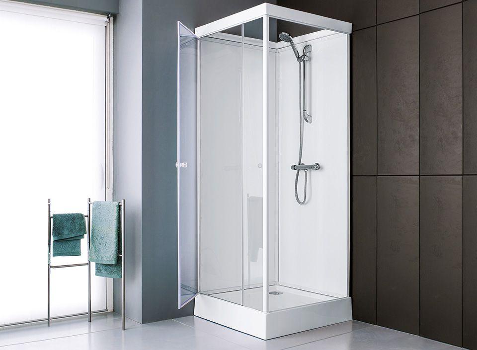 cabine de douche leda corail verre. Black Bedroom Furniture Sets. Home Design Ideas
