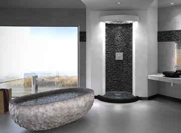 Salle de bains Carrelage galet Bati Orient