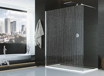Cabines et parois de douches Salle de bains Paroi fixe decor chrome Sanswiss