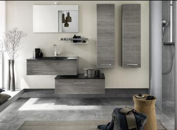 Meubles Salle de bains Unique Onde chêne gris Delpha