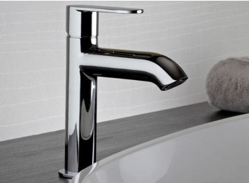 Lavabo - vasque Robinetterie Round - Mitigeur lavabo semi-haut Paini