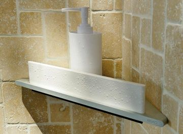 Accessoires Salle de bains Tablette de douche d'angle avec raclette edition 400 Keuco Keuco