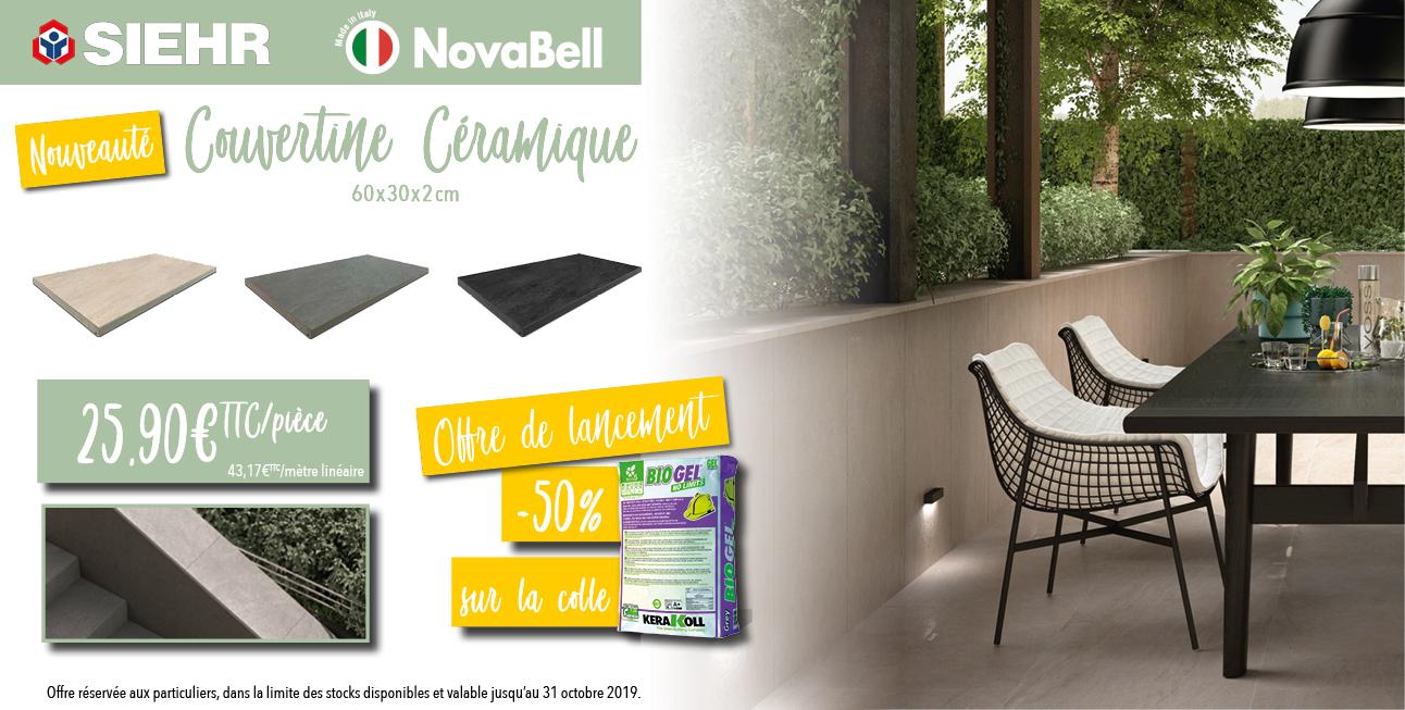 Couvertine Céramique Novabell