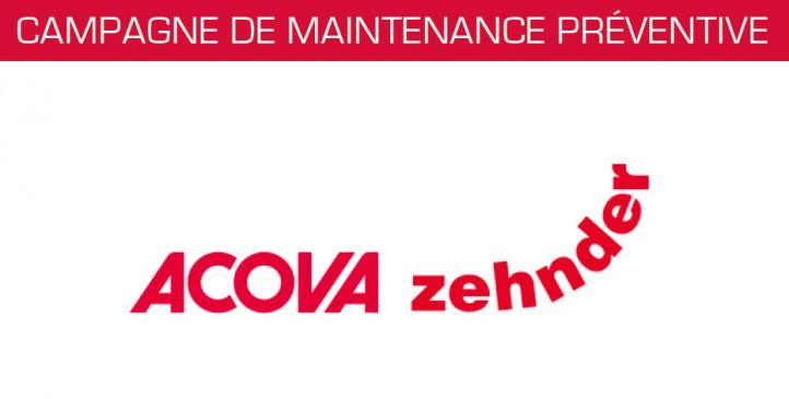 Campagne de maintenance préventive Acova et Zehnder